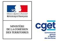 logo de la cget et du ministère de la Cohésion du territoire