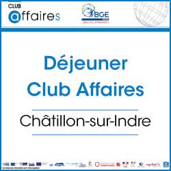 Déjeuner mensuel du Club Affaires de Châtillon-sur-Indre
