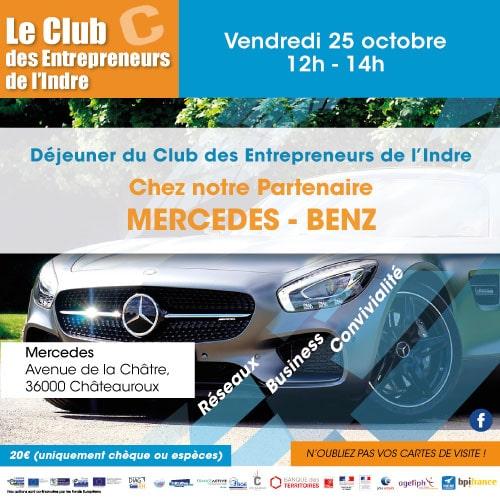 Déjeuner du Club des entrepreneurs de l'Indre chez notre partenaire Mercedes Benz