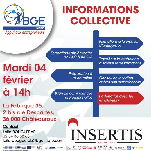 Réunion d'Informations collective sur les possibilités d'insertion et d'évolution professionnelle