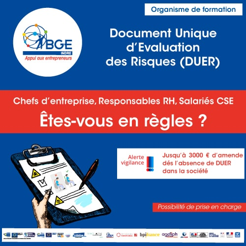 Formation au Document Unique d'Évaluation des Risques (DUER)