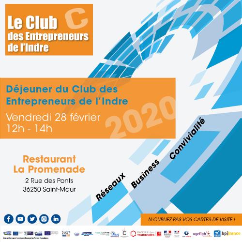 Déjeuner du Club des entrepreneurs de l'Indre @ Restaurant La Promenade