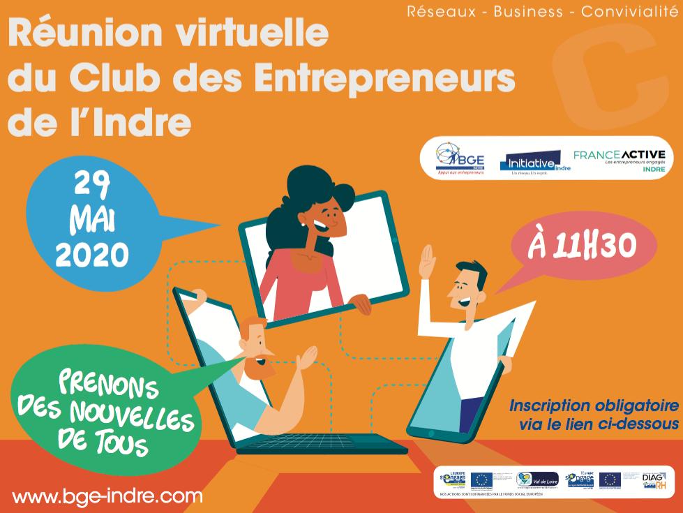 1ere réunion virtuelle du club des entrepreneurs de l'Indre