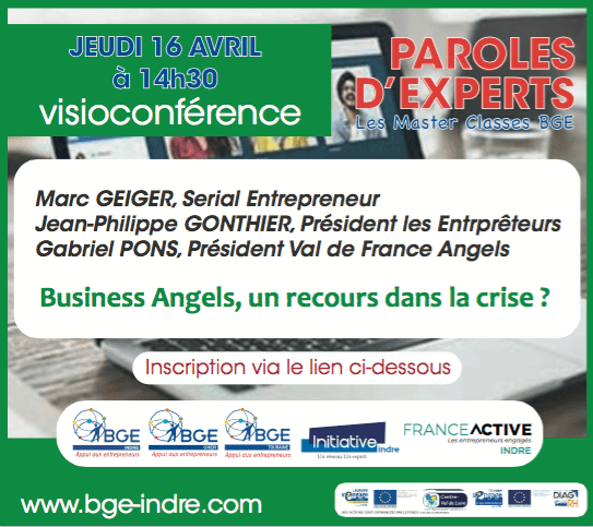 Visioconférence de paroles d'experts concernant le business angels, un recours dans la crise?
