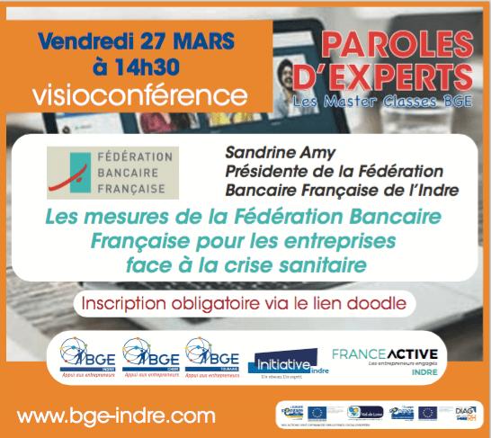 Visioconférence de paroles d'experts concernant les mesures de la fédération bancaire française pour les entreprises face à la crise sanitaire