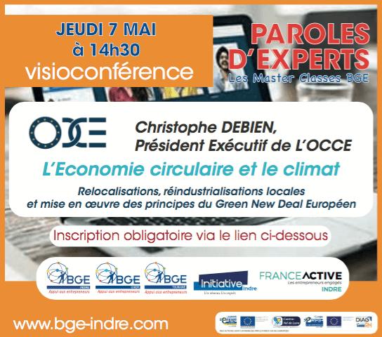 Visioconférence de paroles d'experts du 7 mai concernant l'économie circulaire et le climat