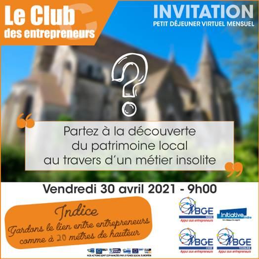 Invitation Club des entrepreneurs de l'Indre