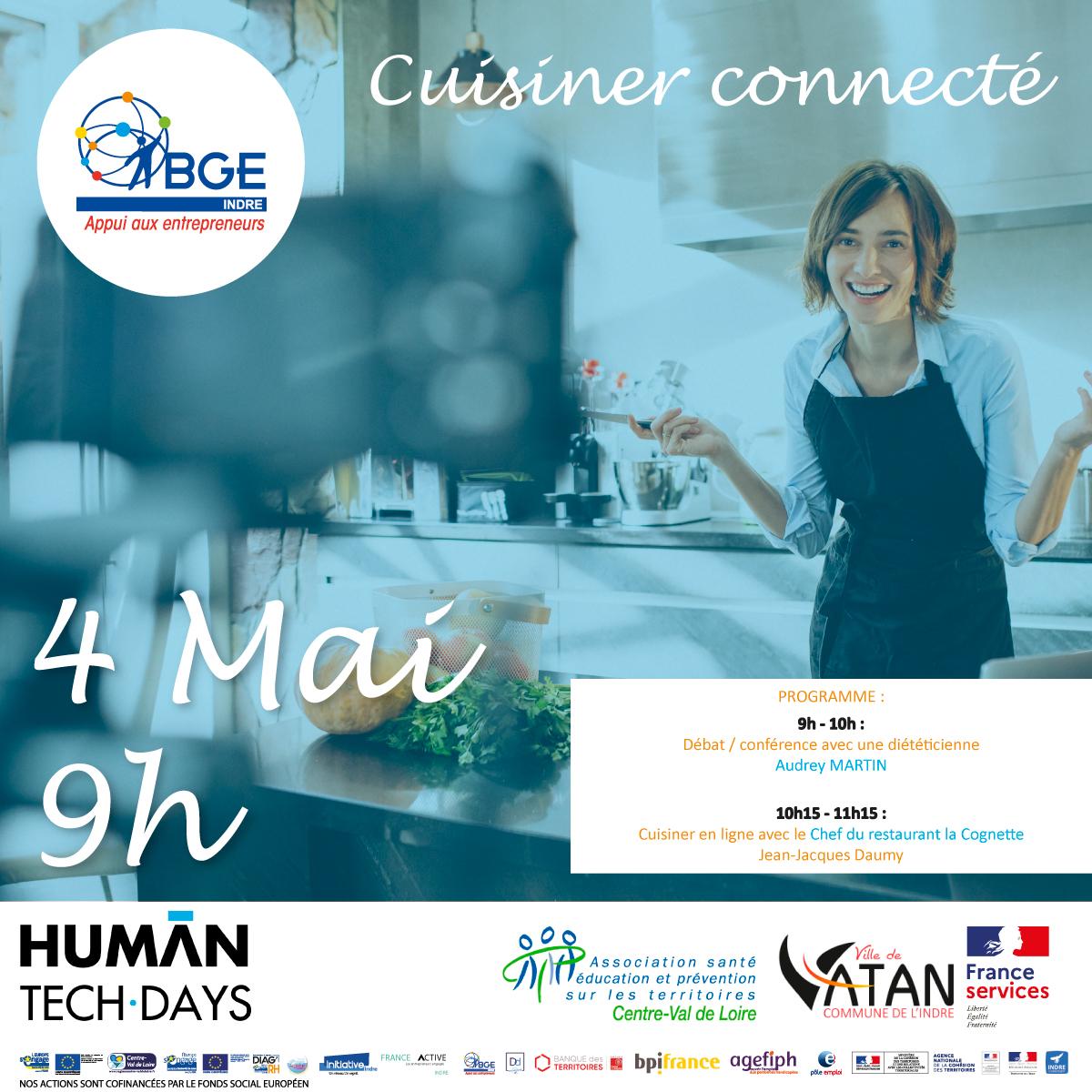 Invitation cuisiner connecté